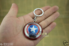 Marvel Avengers alliance Captain America shield alloy keychain Super hero Gift