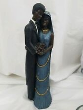 """African American Couple Statue Wedding Figurine Collectible Resin 12"""""""