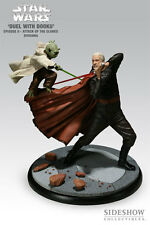 Duel with Dooku - Yoda VS Count Dooku Polystone Diorama by Sideshow Collectibles