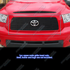 Fits 2007-2009 Toyota Tundra With Logo Show Black Billet Grille Grill Insert