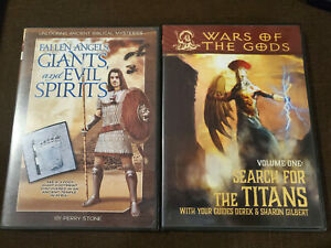 FALLEN ANGELS, GIANTS, AND EVIL SPIRITS Perry Stone DVD + Search For Titans DVD