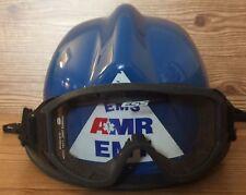 BULLARD USRX SERIES FIRE HELMET Blue EMS AMR EMT ESS GOGGLES R721 Neck Cover