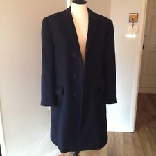 Mens Navy Wool Coat.Beautiful Quality ! Chest 40""