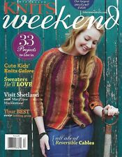 Interweave Knits Weekend Magazine Reversible Cables Sweaters Knitting Group 2011