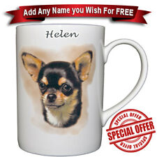Chihuahua BlackTan / Fine Bone China Mug + Personalise for Free