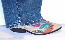ARPEGGIOS RODEO II - VINTAGE – BOOT MULE - SHOE – WESTERN FLORAL SUEDE - SIZE 9