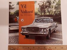 1961 CHRYSLER Valiant - Original Dealer Colour Sales Catalog - Brochure - (CDN)