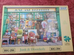 HOUSE OF PUZZLES JUNK AND DISORDERLY 250 LARGE PIECE JIGSAW PUZZLE - COMPLETE