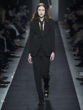 BOTTEGA VENETA £480 Designer New / Tags Charcoal Wool Trousers S.40 NEW