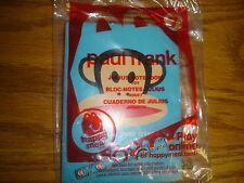 McDonald's Happy Meal 2012 Paul Frank toy #7 Julius Notebook & pencil Monkey
