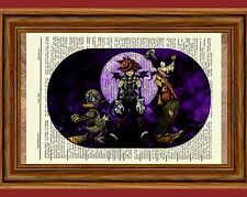 Kingdom Hearts Dictionary Art Print Poster Picture Halloween Town Sora Roxas