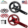 MTB Road Bike Crankset 104BCD 170mm Crank BB Bicycle Pedal 32T-38T Chainring