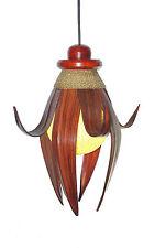 Pendelleuchte Karima Beleuchtung Palmblatt Deko Bali Holz Blatt Deckenlampe Asia