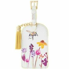 GoldK Purple Butterfly Leather Luggage Tags Baggage Bag Instrument Tag Travel Labels Accessories with Privacy Cover
