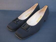 Salvatore Ferragamo Women's Black Satin Pumps, Size 8 2A