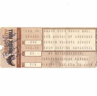 ADAM ANT & THE ROMANTICS Concert Ticket Stub NYC 2/25/84 RADIO CITY MUSIC HALL