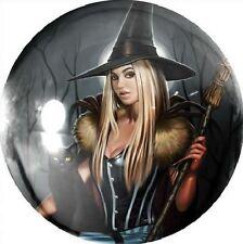 Aly Fell Winter witch verre presse-papier en Boîte Cadeau Papier Poids Fantasy