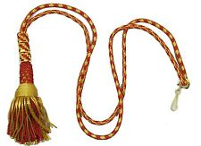 Cord Liturgical Bishop Tassle Pectoral Cincture Red & Gold Rope For Cross R1864