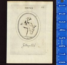 Fauna - Nude Mother & Child depicted by Leonardo Agostini  -1685 Engraving