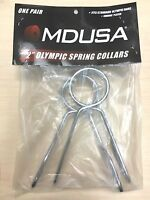 """Heavy Duty Steel OLYMPIC 2"""" SPRING COLLARS WeightLifting Barbell Clips 1 PAIR"""