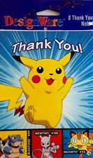 Pokemon Gotta Catch'em All Birthday Party Supplies Pikachu Thank You Cards NEW