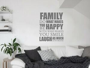 Do what makes you happy family wall sticker quote