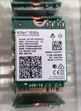 Intel Killer Wi-Fi 6 AX1650 x (Gig+), 2230, 2x2 AX+BT, No vPro 1650x (LOT of 20)