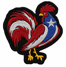 PUERTO RICAN COCK FLAG EMBROIDERED MC PATCH