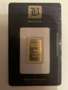 5 gram gold bar Minted In Baird And Co London    Read Notes