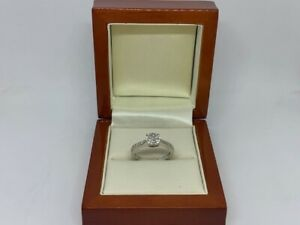 0.32ct Diamond 9ct White Gold Ring