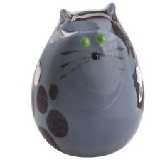 Caithness Glass U17064 Purrfect Grey Kitten Cat Paperweight