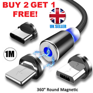 3 in 1 Magnetic USB Cable Charging/Charger Phone/Type-C/ Micro USB / IOS iphone