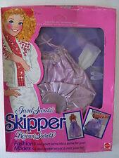 barbie jewel secrets skipper bijoux gown dress robe abito NRFB 1986 mattel 1863