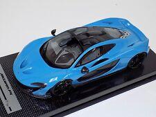 1/18 Tecnomodel McLaren P1 in Baby Blue with Black Wheels  #01 of 20  Carbon