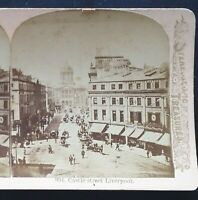 Castle Street, Liverpool, England, Circa 1880/1890's Stereoview, Littleton View