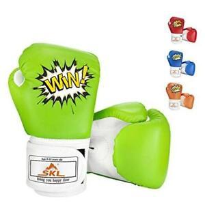 Kids Boxing Gloves,  Boxing Gloves for Kids Boys Girls 3-15 Junior GreenWhite