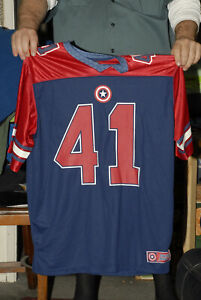 Captain America Jersey Super soldier 41 Marvel Jack Kirby Mint- XL