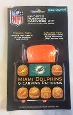 Miami Dolphins Pumpkin Carving Kit Halloween Stencils for Jack-O-Lantern