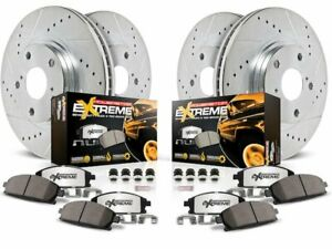 For 2011-2015 Ram 3500 Brake Pad and Rotor Kit Front and Rear Power Stop 62649XN