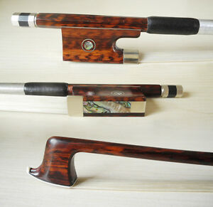 Great Letterwood Snakewood violin bow 4/4,abalone inlay, strong straight