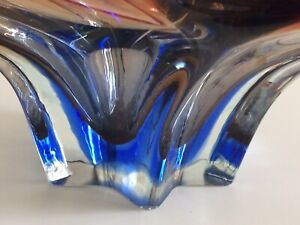 Rare Large Great Coloured Vintage Sommerso murano glass Bowl 2.6+kg