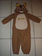 NEW Disney BAMBI Deer COSTUME XXS 2/3 Boys Girls HALLOWEEN Cosplay FANCY DRESS
