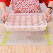 Refrigerator Food Dumplings Eggs Airtight Storage Container Box For 24 eggs AU