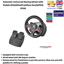 Xbox One Steering Wheel And Pedal Set Gaming Racing Driving Simulator PS4 PS3 UK