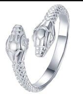 Schlangenring Snake Ring Größenverstellbar silber Silver Damen Tier Luxus Neu