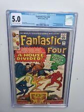 Fantastic Four #34 CGC 5.0 Marvel Comics Silver Age Gideon