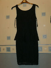 new LADIES  SHEER LACE NAVY DRESS  SIZE 10