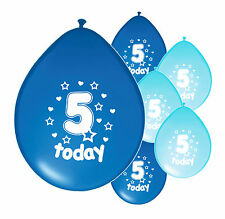 "20 X 5th BIRTHDAY BOY BALLOONS ""5 TODAY""  BIRTHDAY BALLOONS MIX BLUE (PA)"