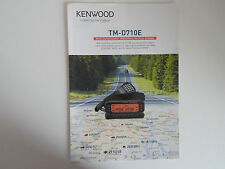 KENWOOD TM-D710E (GENUINE BROCHURE ONLY)............RADIO_TRADER_IRELAND.