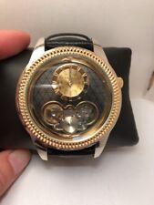Elgin FG2010 Men's Semi Automatic Watch BLACK LEATHER BAND DIAMOND CUT DIAL H49